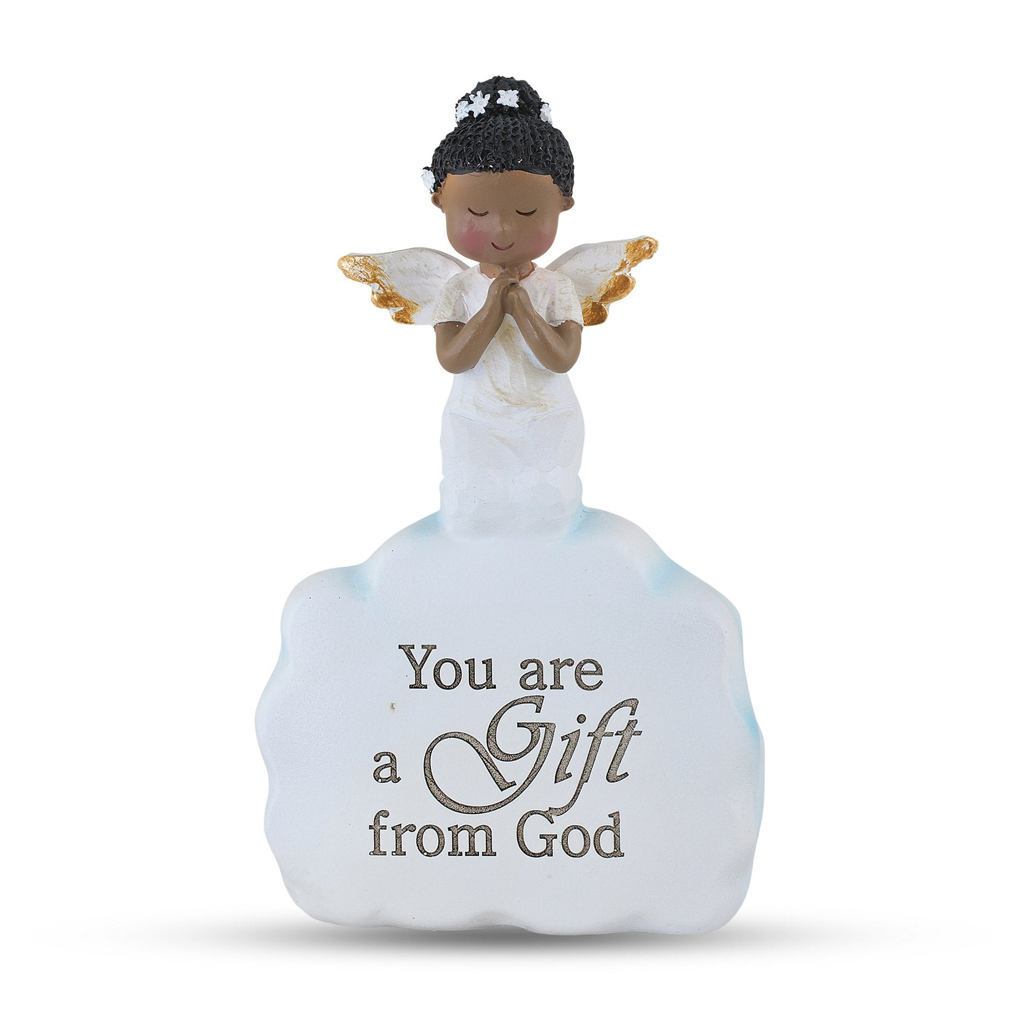 A Gift from GOD: African American Angel Figurine by Unison Gifts