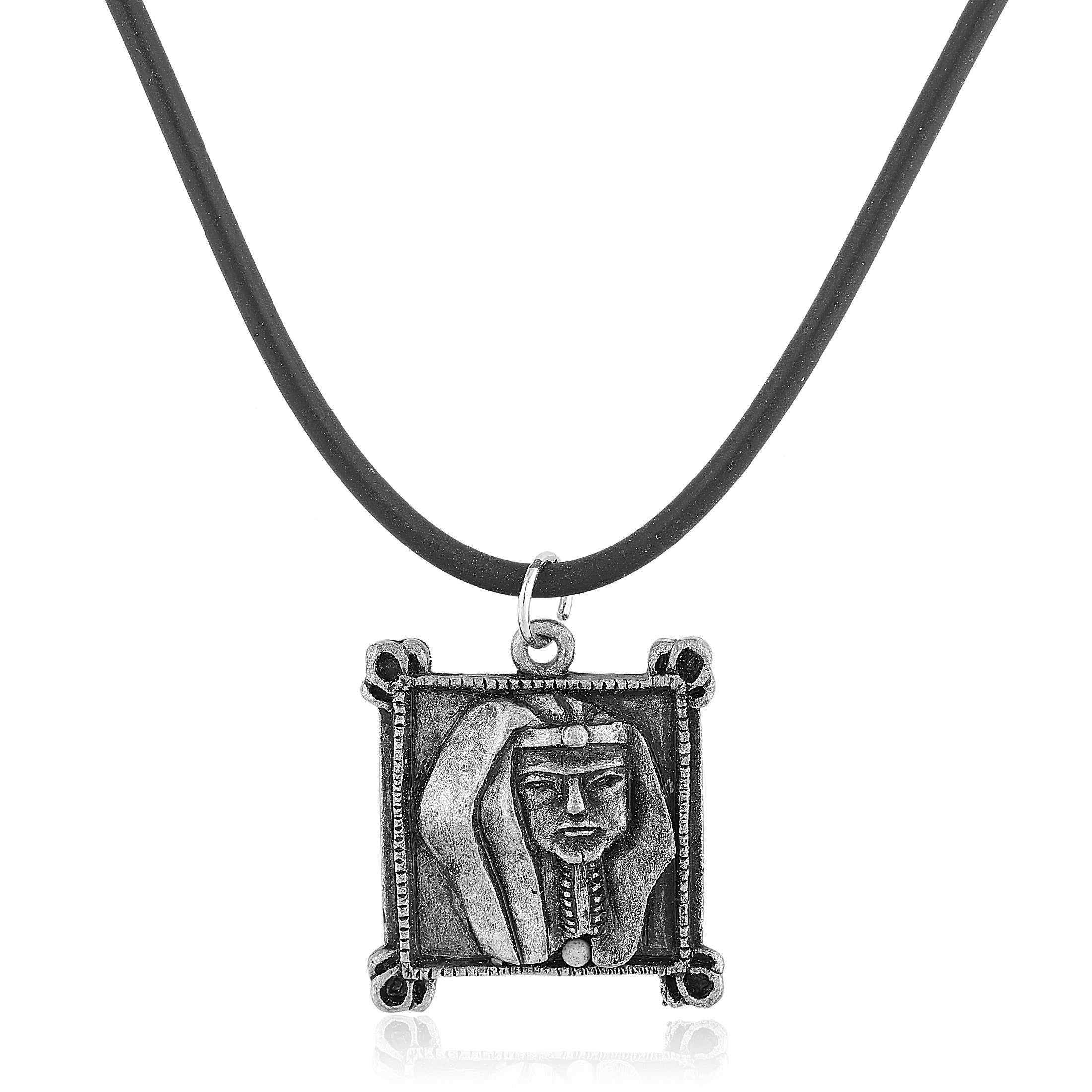 Alpha Phi Alpha Inspired Pharoah Pendant with Black Cord Necklace