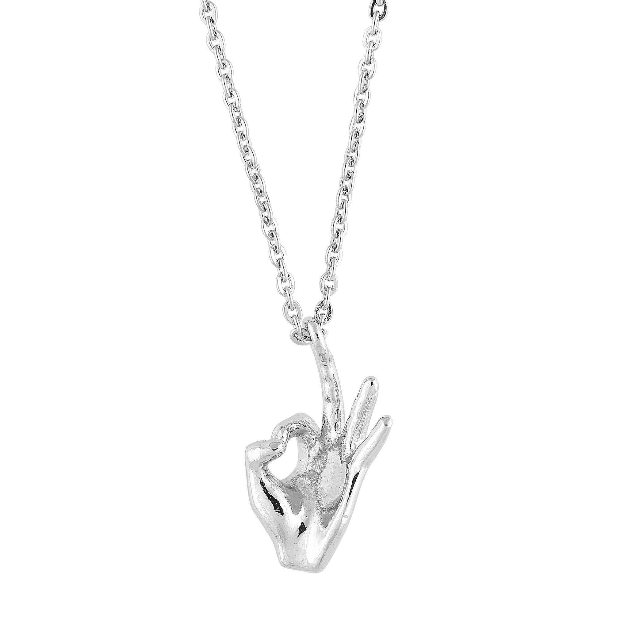 Kappa Alpha Psi Hand Sign Pendant with Necklace