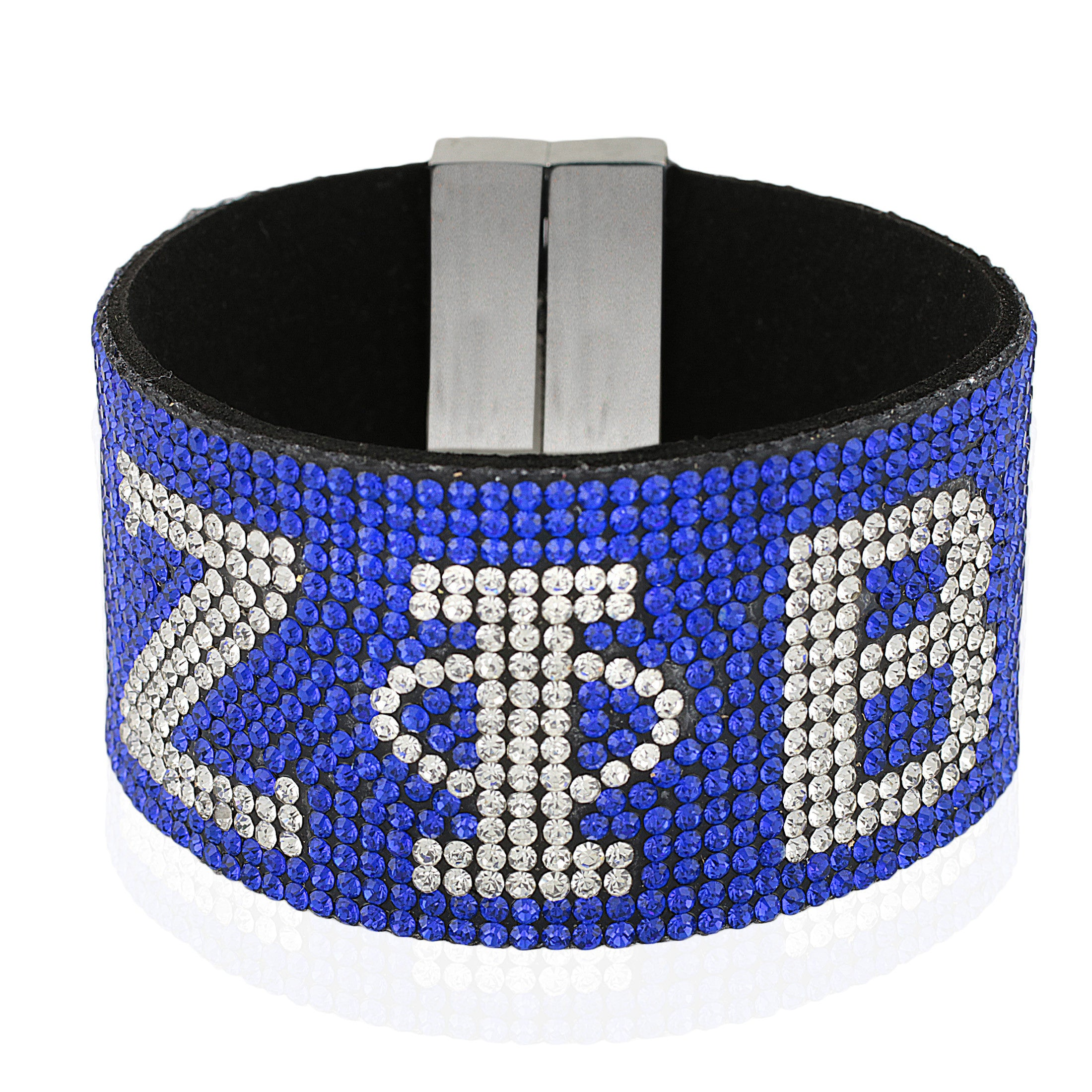 Zeta Phi Beta Bling Bracelet with Magnetic Clasp (Blue)