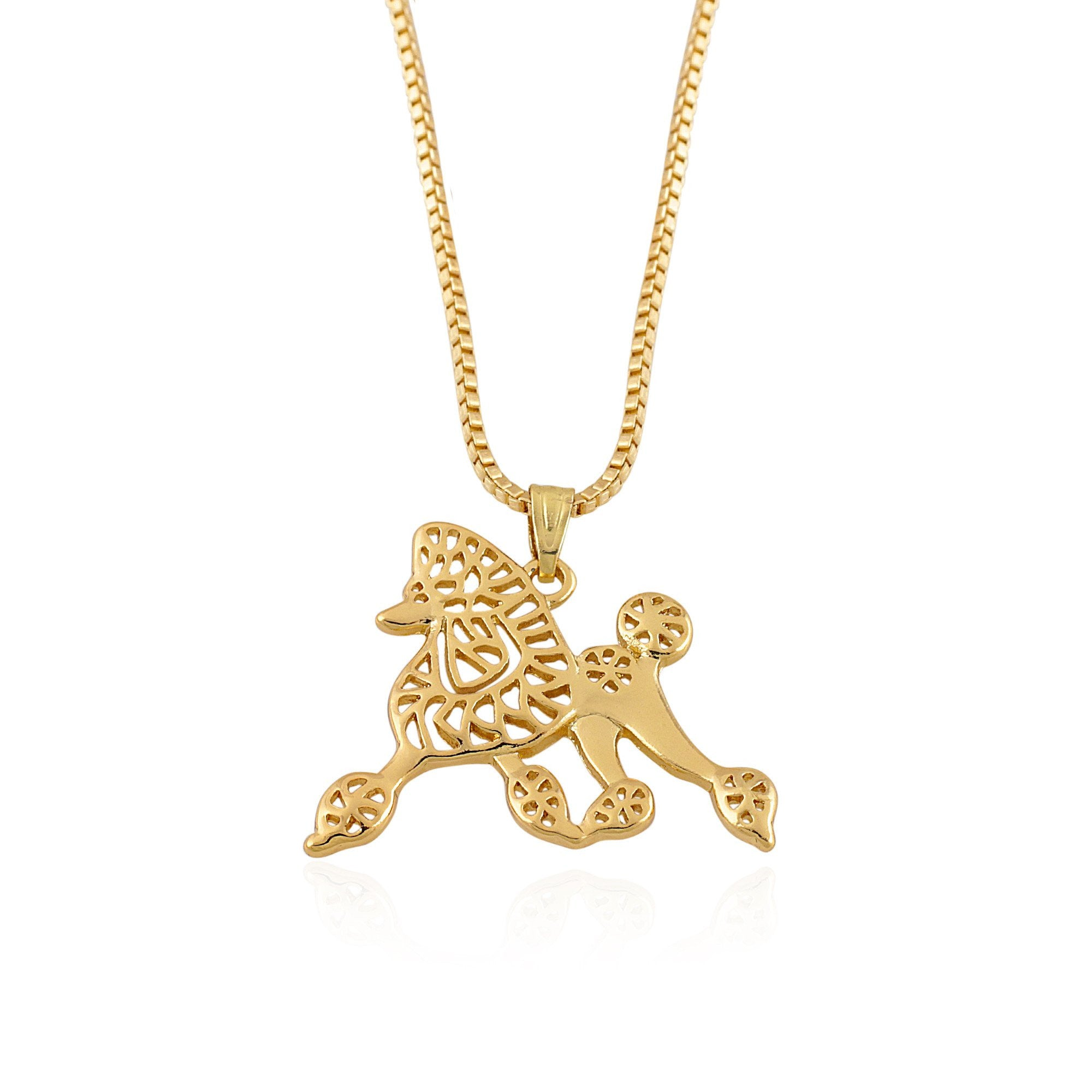 Sigma Gamma Rho Inspired Pretty Poodle Pendant Necklace