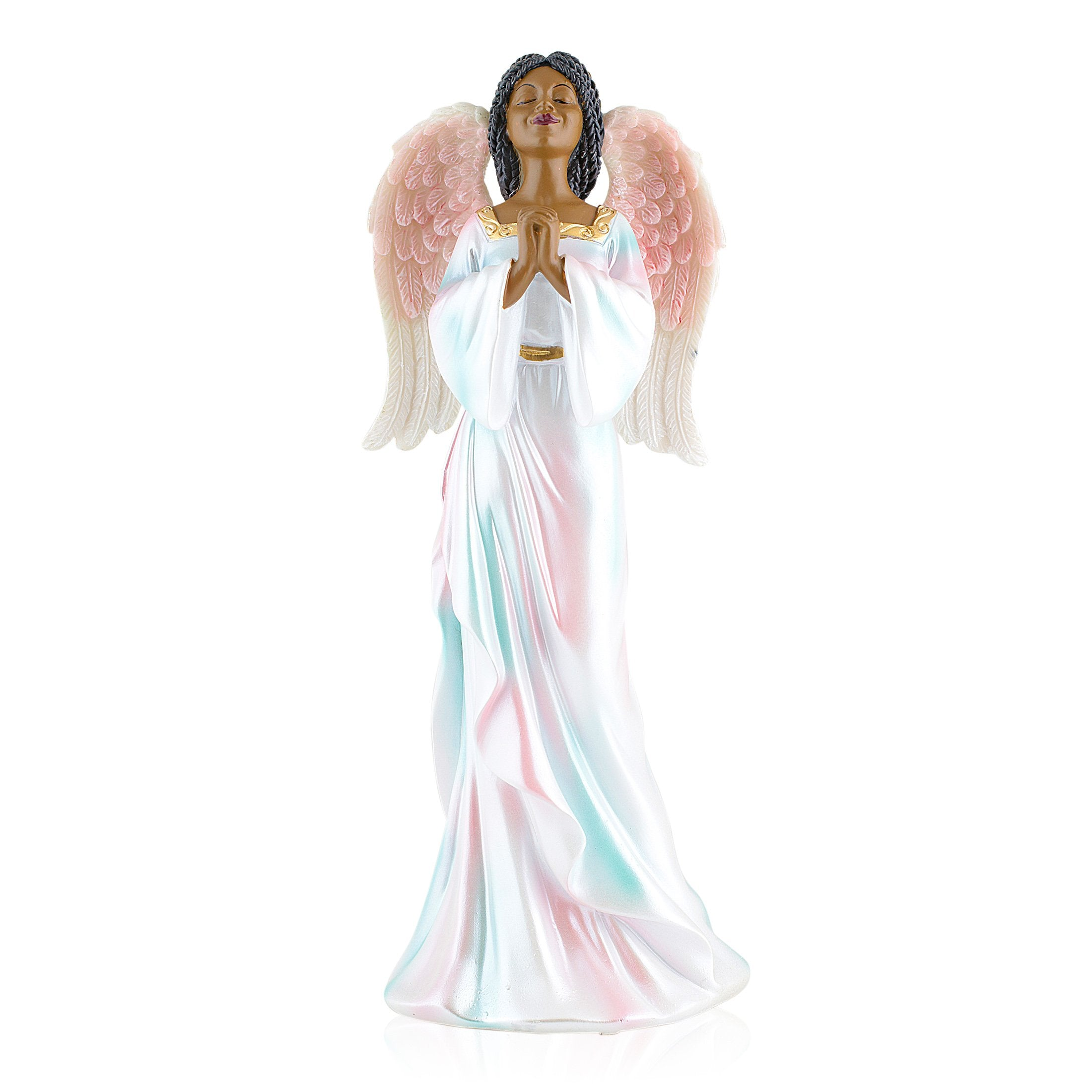 Prayerful: African American Angel Figurine by Positive Image Gifts