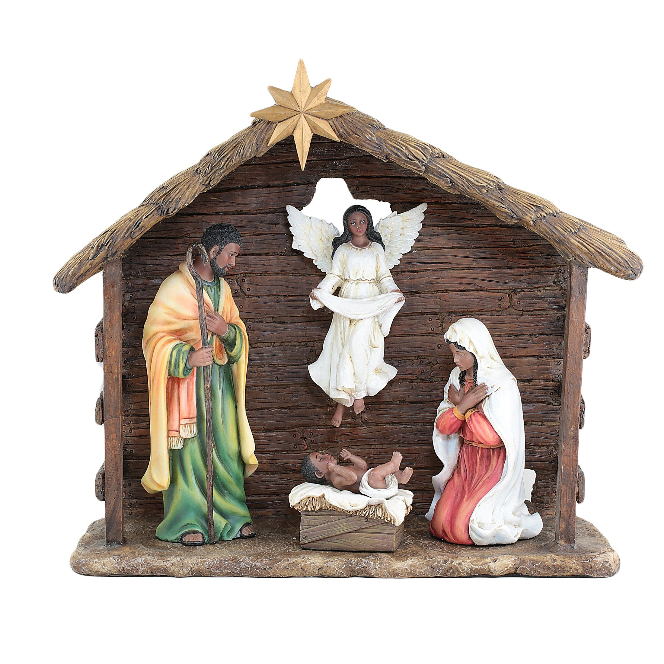 Unto Us a Child is Born: African American Nativity Scene (6 piece set)