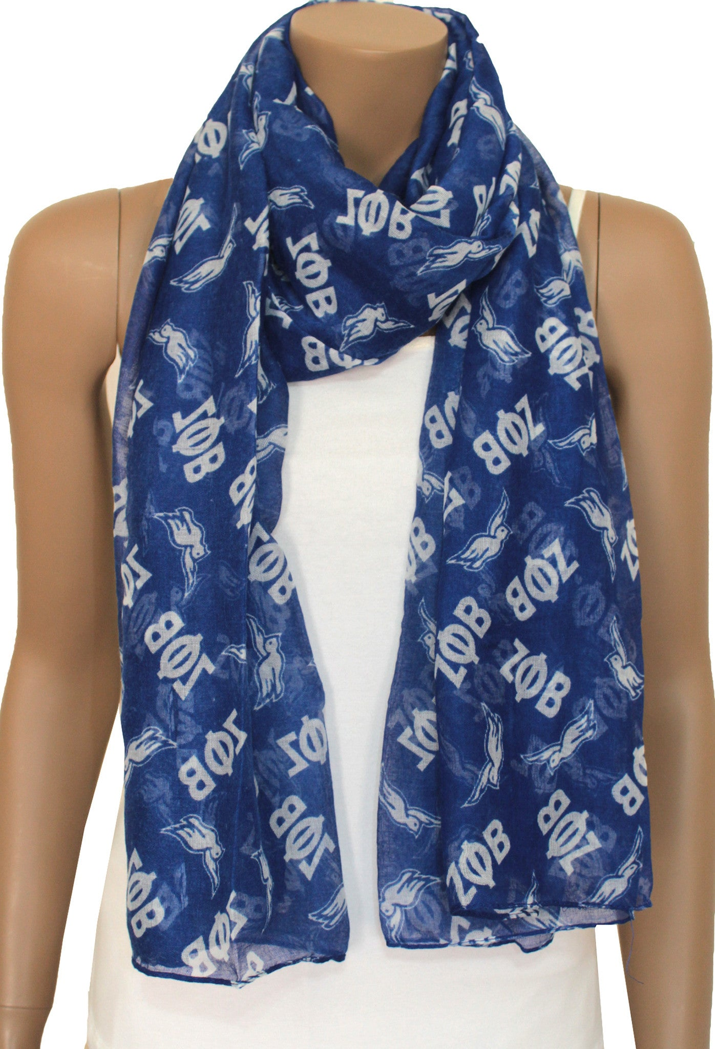 Zeta Phi Beta Blue Dove Scarf