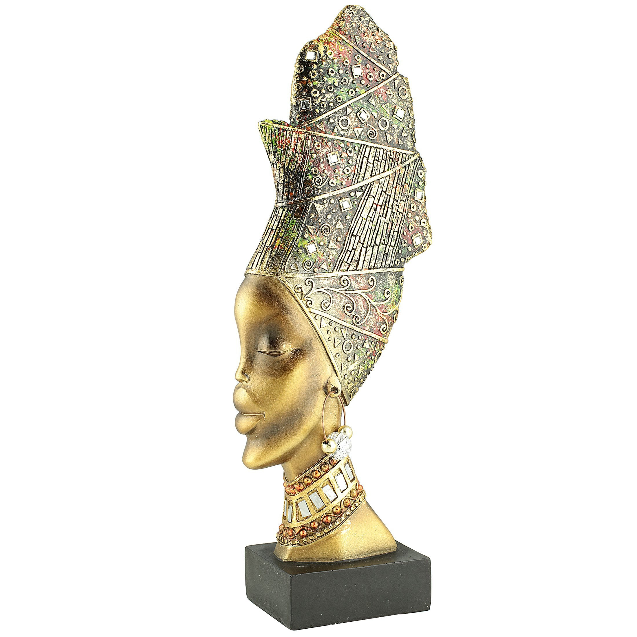 Nubian Queen: Afrocentric Table Top Sculpture by Unison Gifts