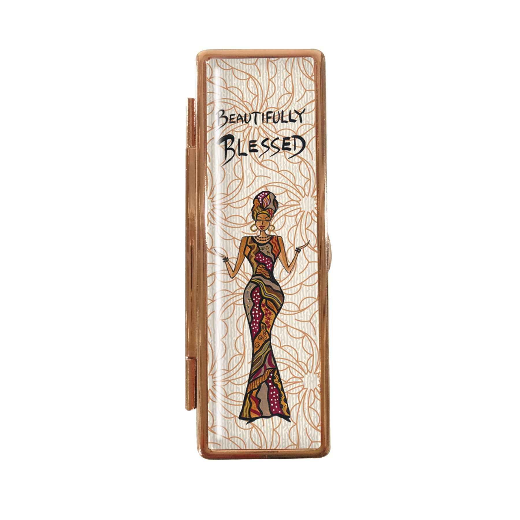 Beautifully Blessed: African American Lipstick Case by Cidne Wallace