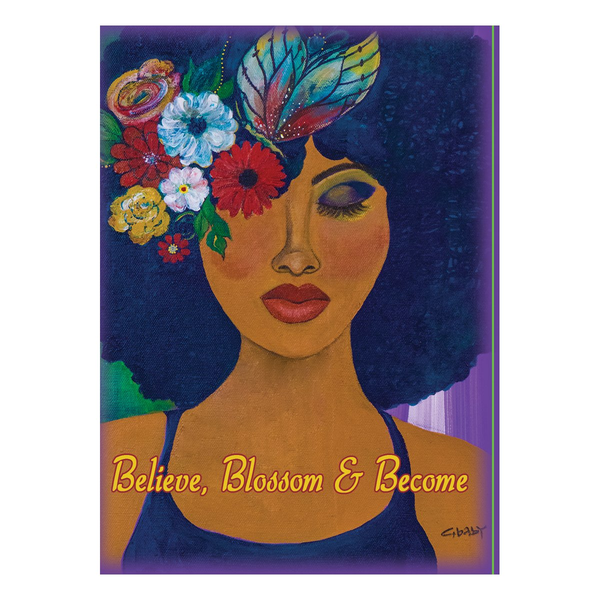 Believe, Blossom & Become: Gbaby Magnet by Shades of Color