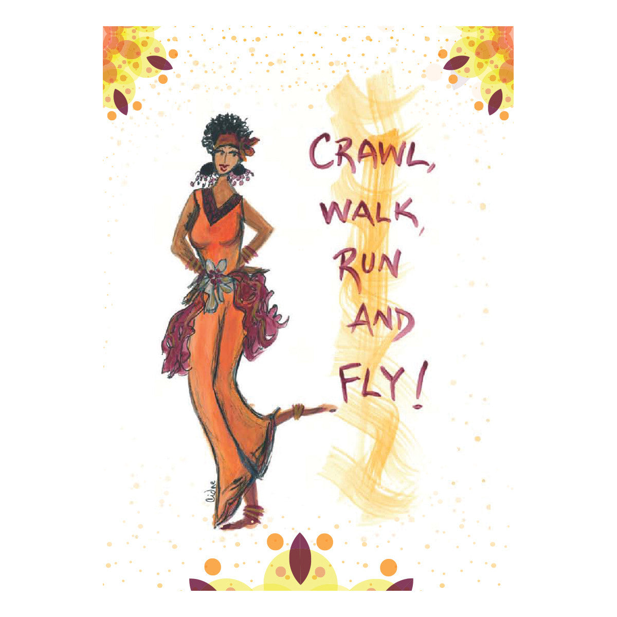 Crawl, Walk, Run & Fly: Cidne Wallace Magnet by Shades of Color