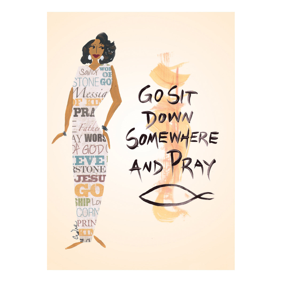 Go Sit Down Somewhere and Pray: Cidne Wallace Magnets by Shades of Color