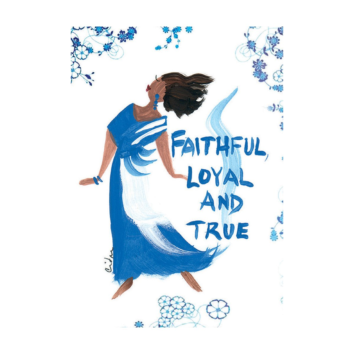 Faithful, Loyal and True: Cidne Wallace Magnet by Shades of Color