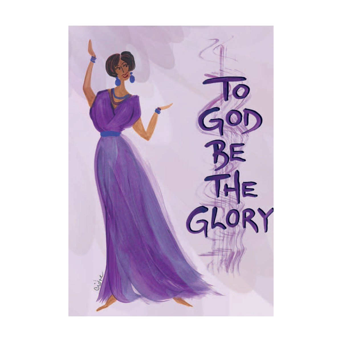 To God be the Glory: Cidne Wallace Magnet by Shades of Color
