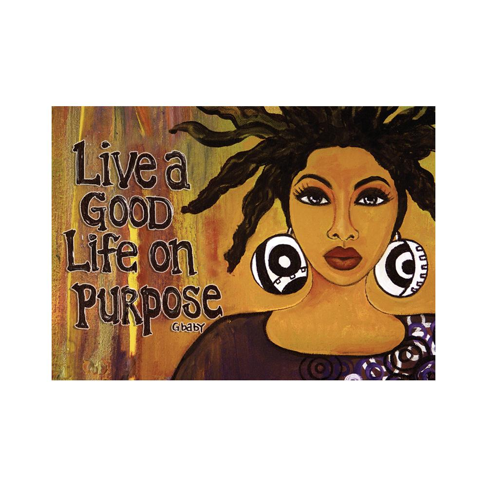 Live a Good Life on Purpose: Gbaby Magnet by Shades of Color