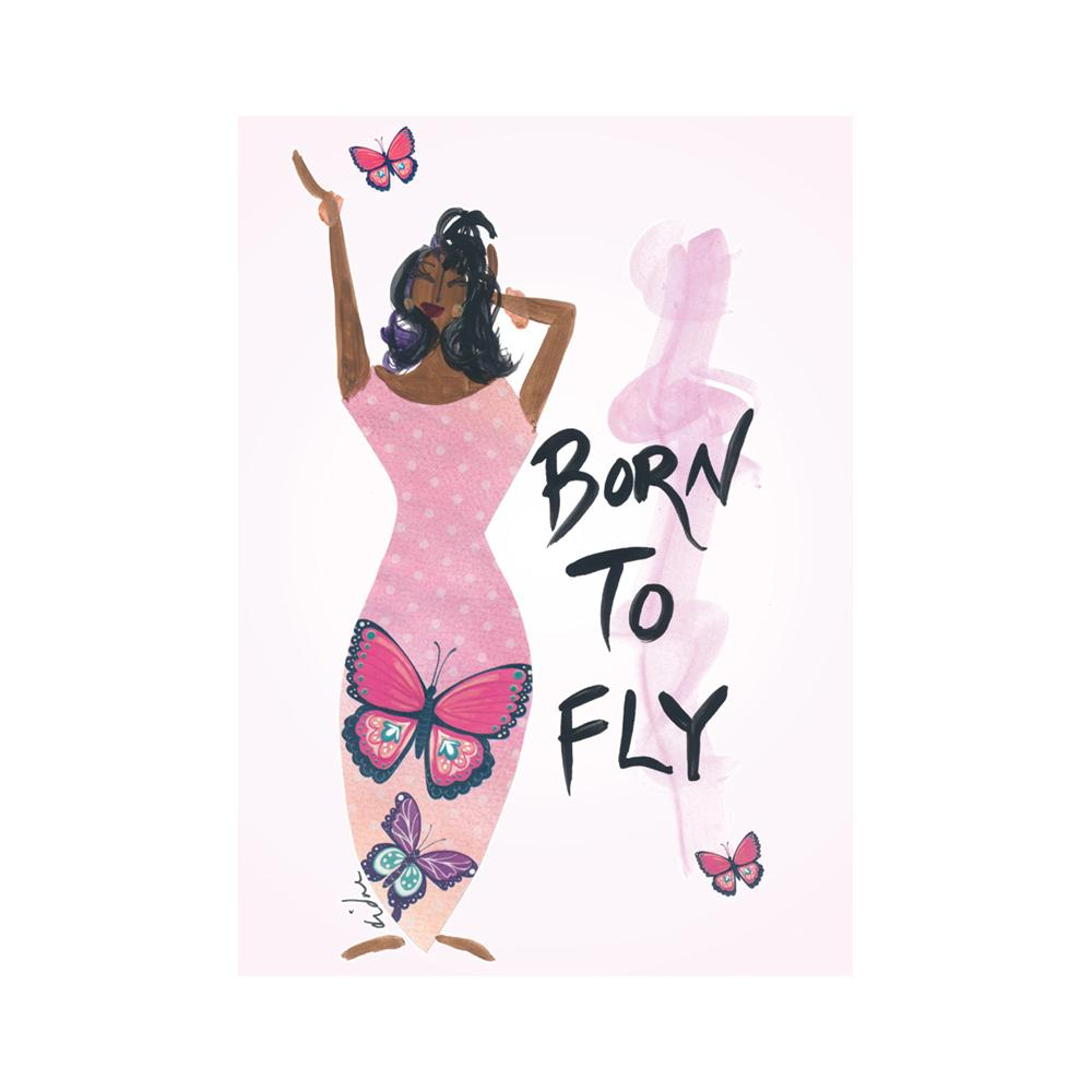 Born to Fly: Cidne Wallace Magnet by Shades of Color