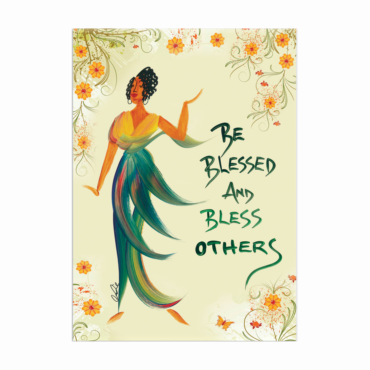 Be Blessed & Bless Others: African American Magnets by Cidne Wallace