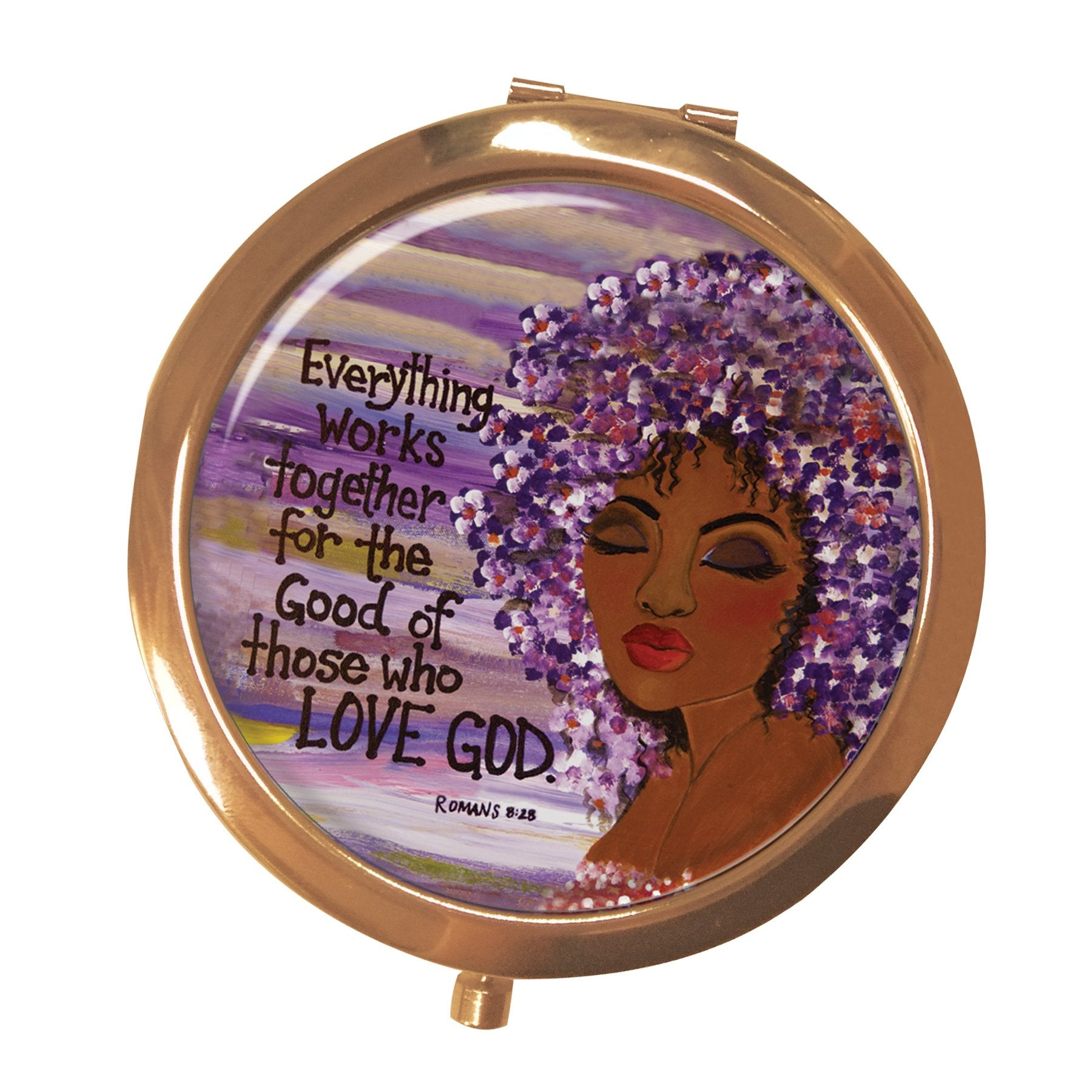 Love GOD: African American Pocket Mirror by Gbaby