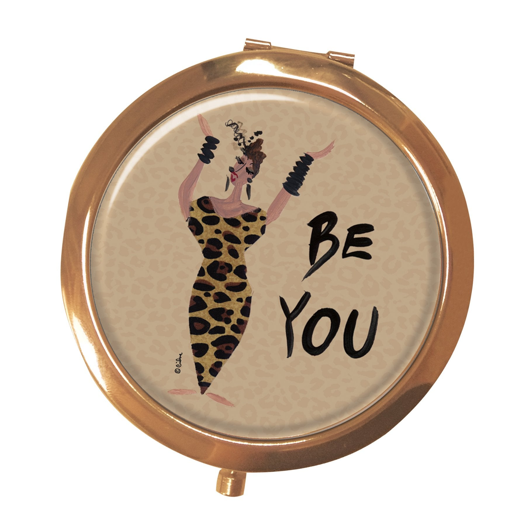 Be You: African American Pocket Mirror by Cidne Wallace