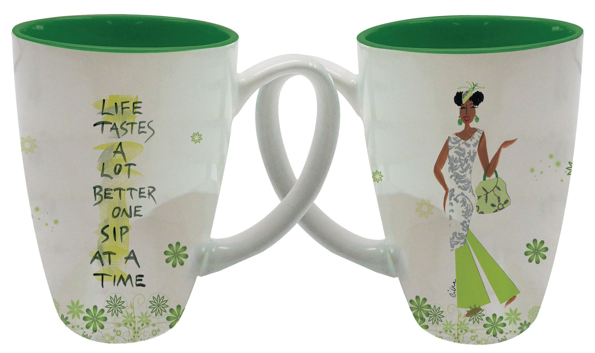 Life Tastes a lot Better One Sip at a Time Latte Mug by Cidne Wallace