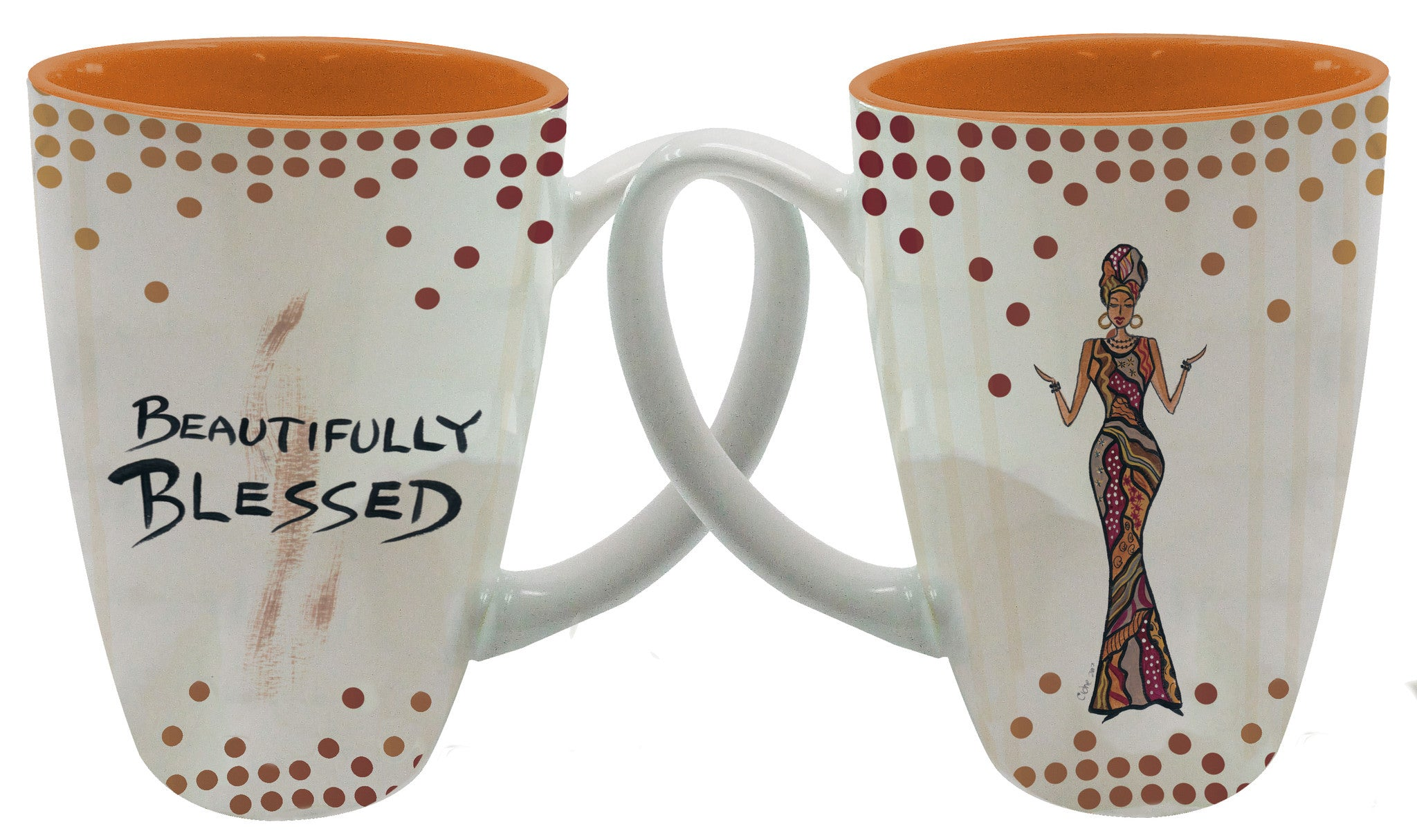 Beautifully Blessed Latte Mug by Cidne Wallace