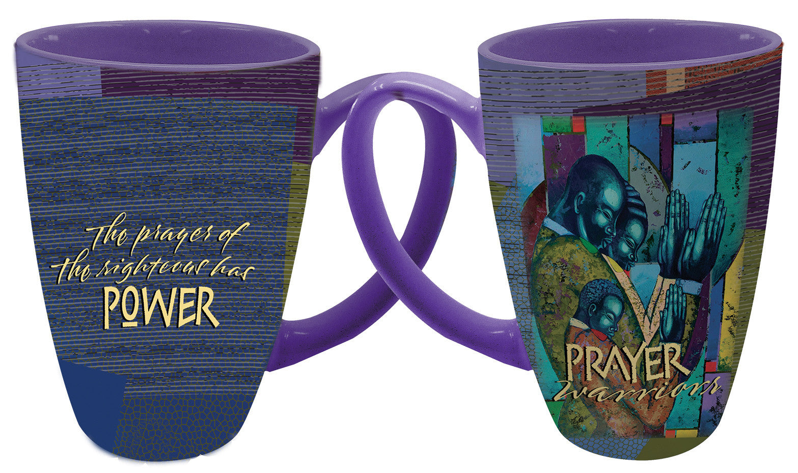 "Prayer Warrior Latte Mug by Larry ""Poncho"" Brown"