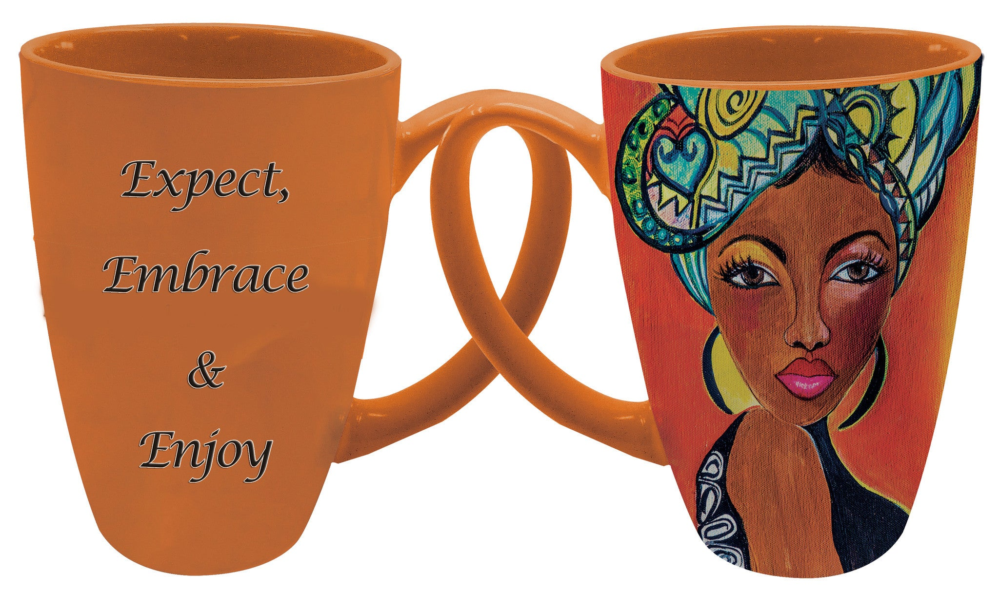"Expect, Embrace, Enjoy Latte Mug by Sylvia ""GBaby"" Cohen"