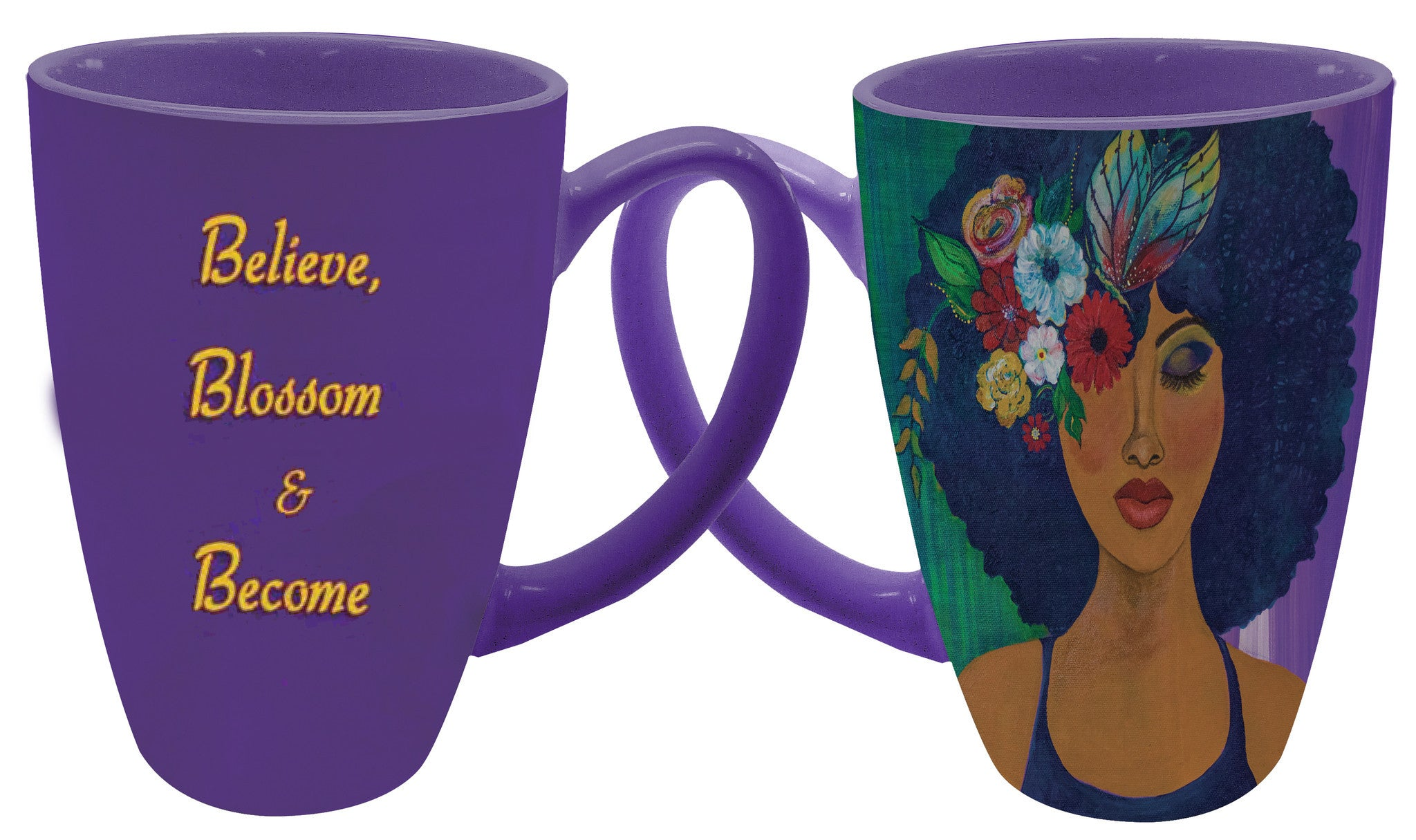 "Believe Blossom and Become Latte Mug by Sylvia ""GBaby"" Cohen"