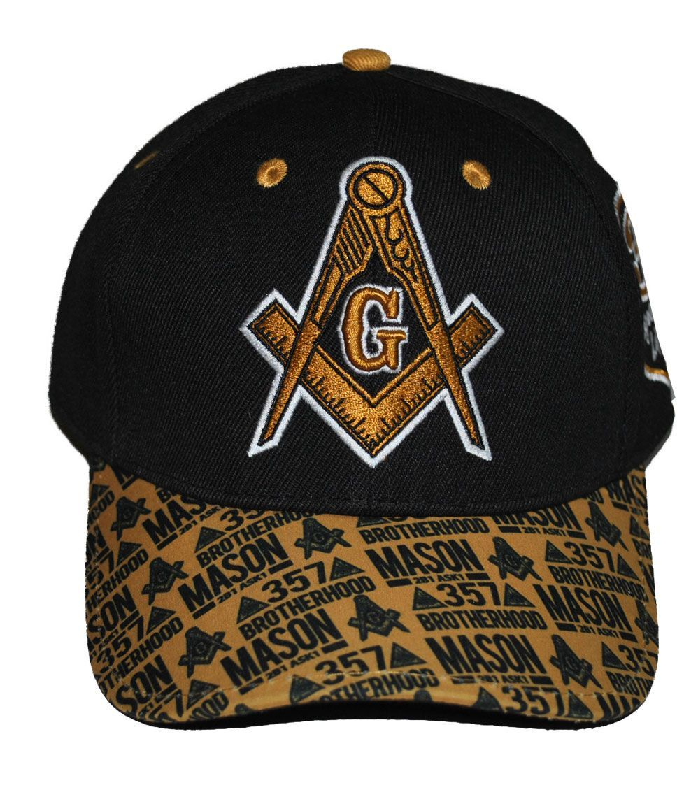 Freemasonry Masonic 357 Printed Brim Baseball Cap by Big Boy Headgear (Front)