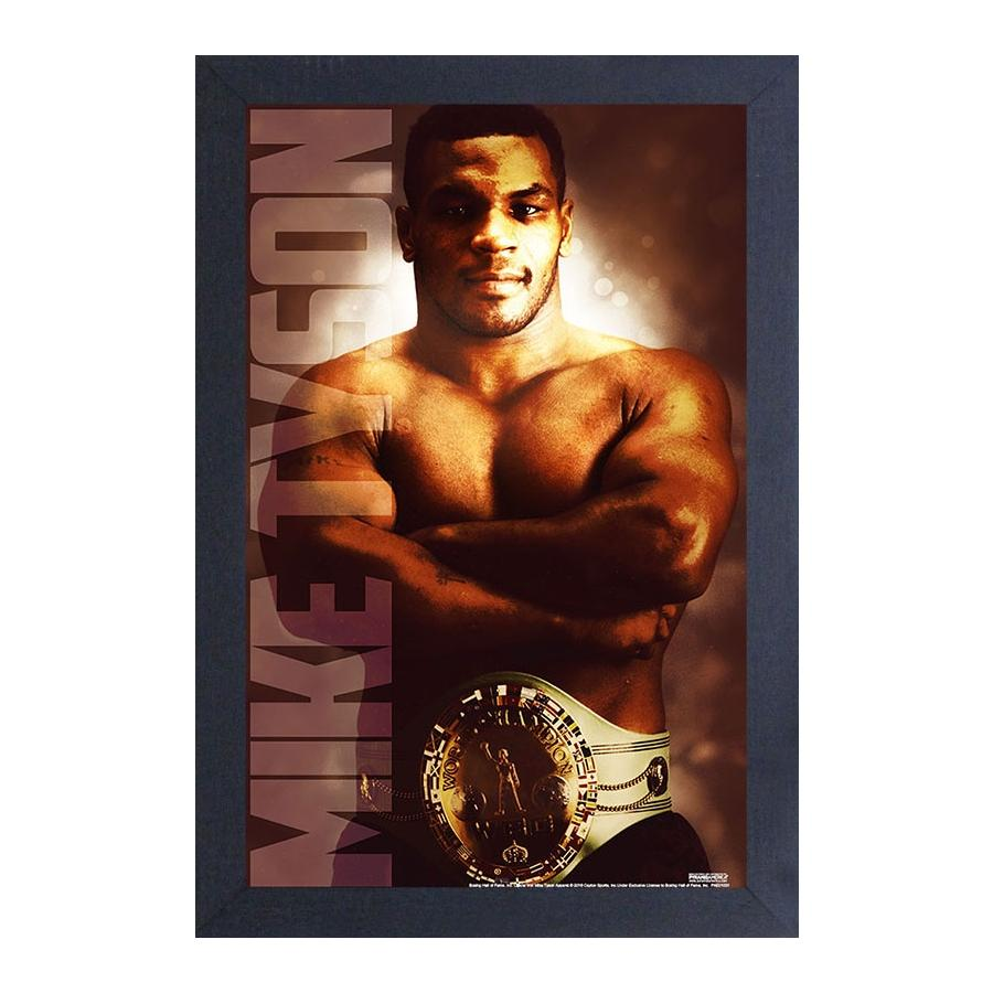 Mike Tyson: The Brooklyn Beast by Pyramid American (Black Framed)