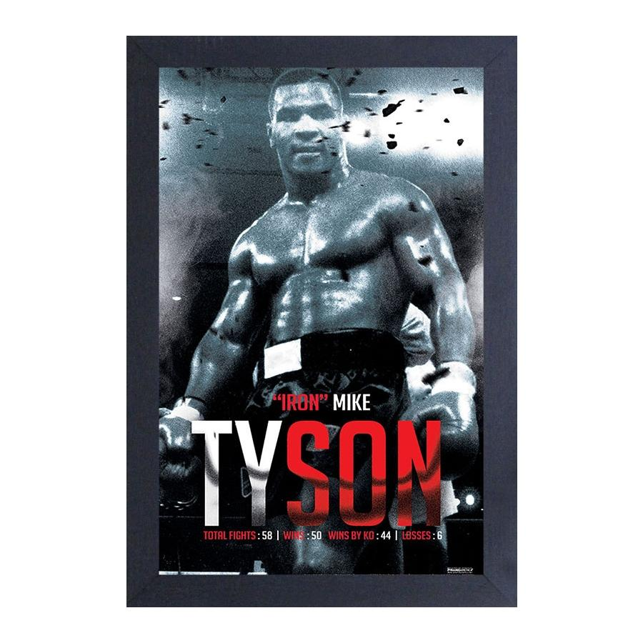 Mike Tyson: Iron Mike Tyson by Pyramid America (Black Frame)