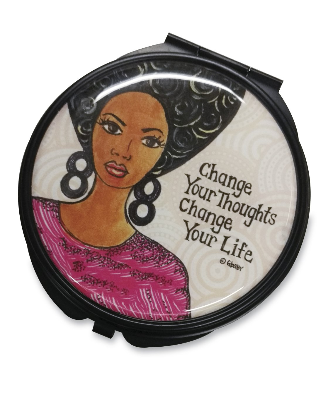 Change Your Thoughts Change Your Life: African American Pocket Mirror by GBaby