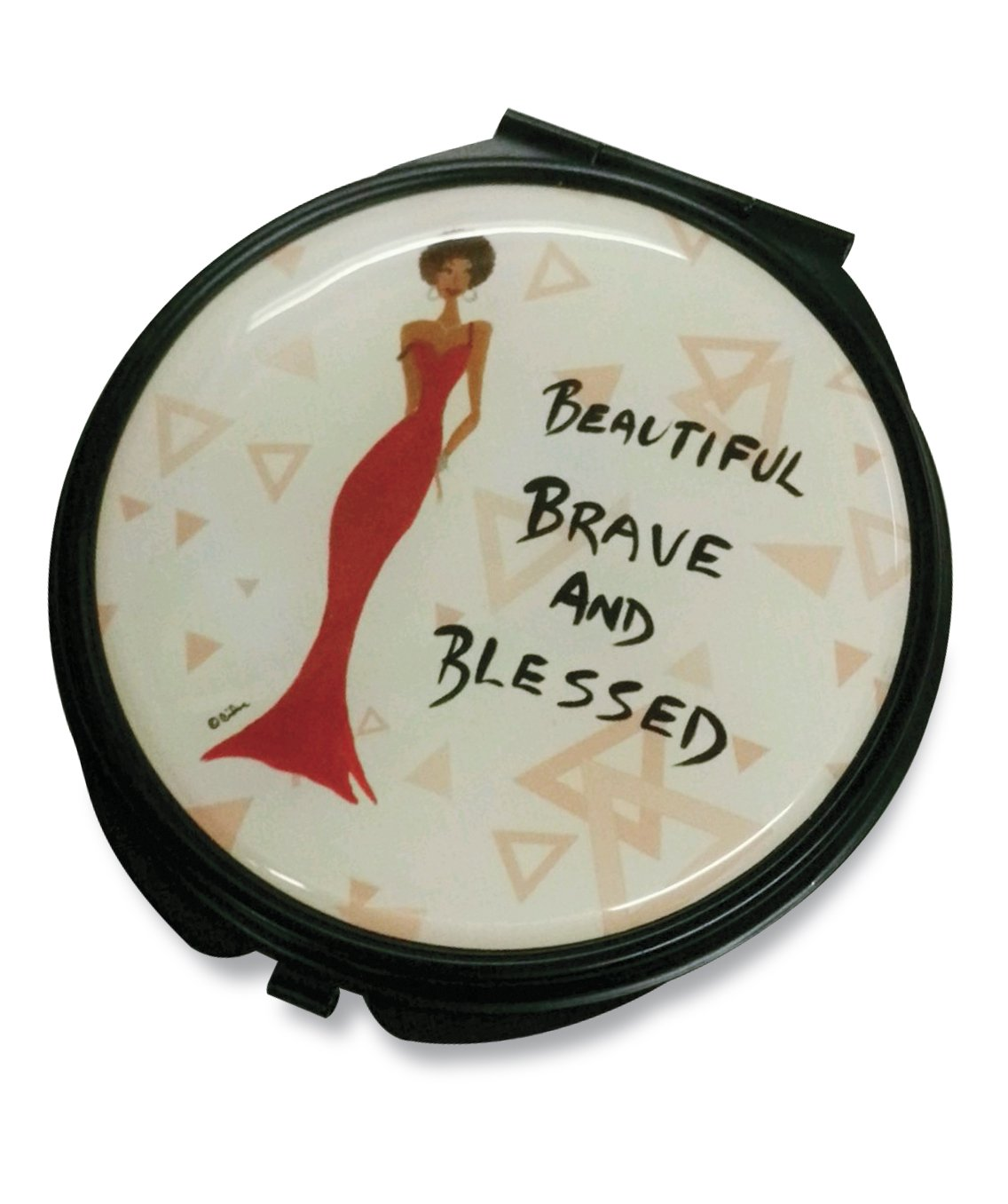 Beautiful, Brave and Blessed: African American Pocket Mirror by Cidne Wallace