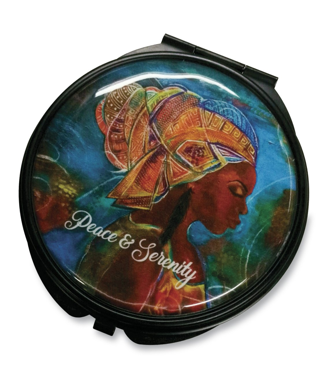 Peace & Serenity: African American Pocket Mirror by Gbaby