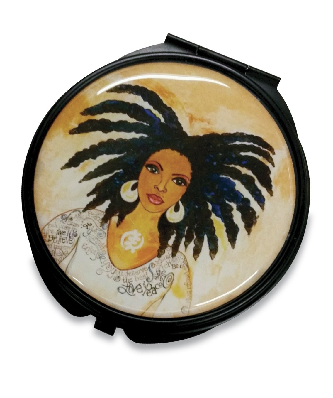 Nubian Queen: African American Pocket Mirror by GBaby