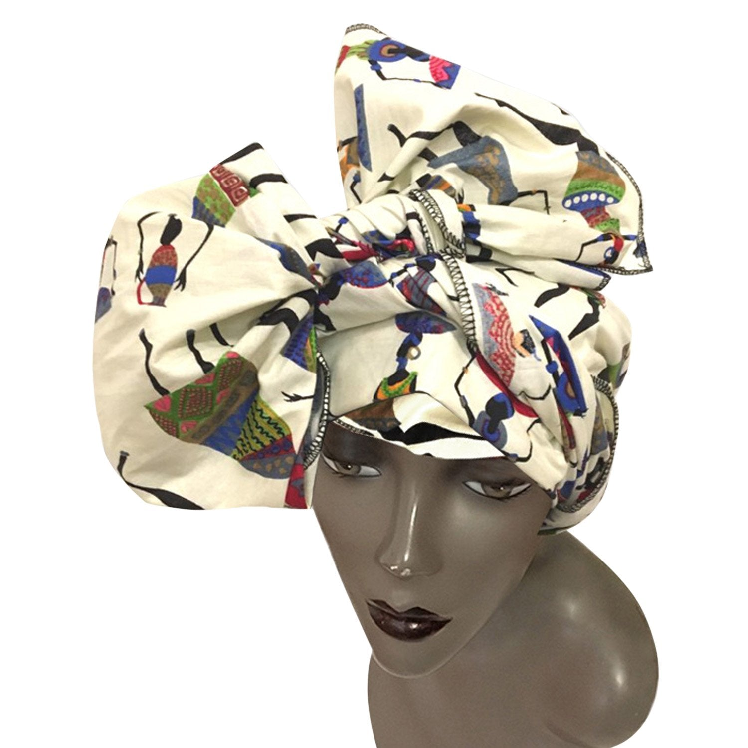 Authentic African Wax Print Fabric Head Wrap by Boutique Africa