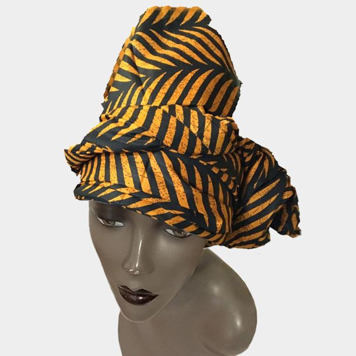 Authentic African Wax Print Fabric Headwrap by Boutique Africa
