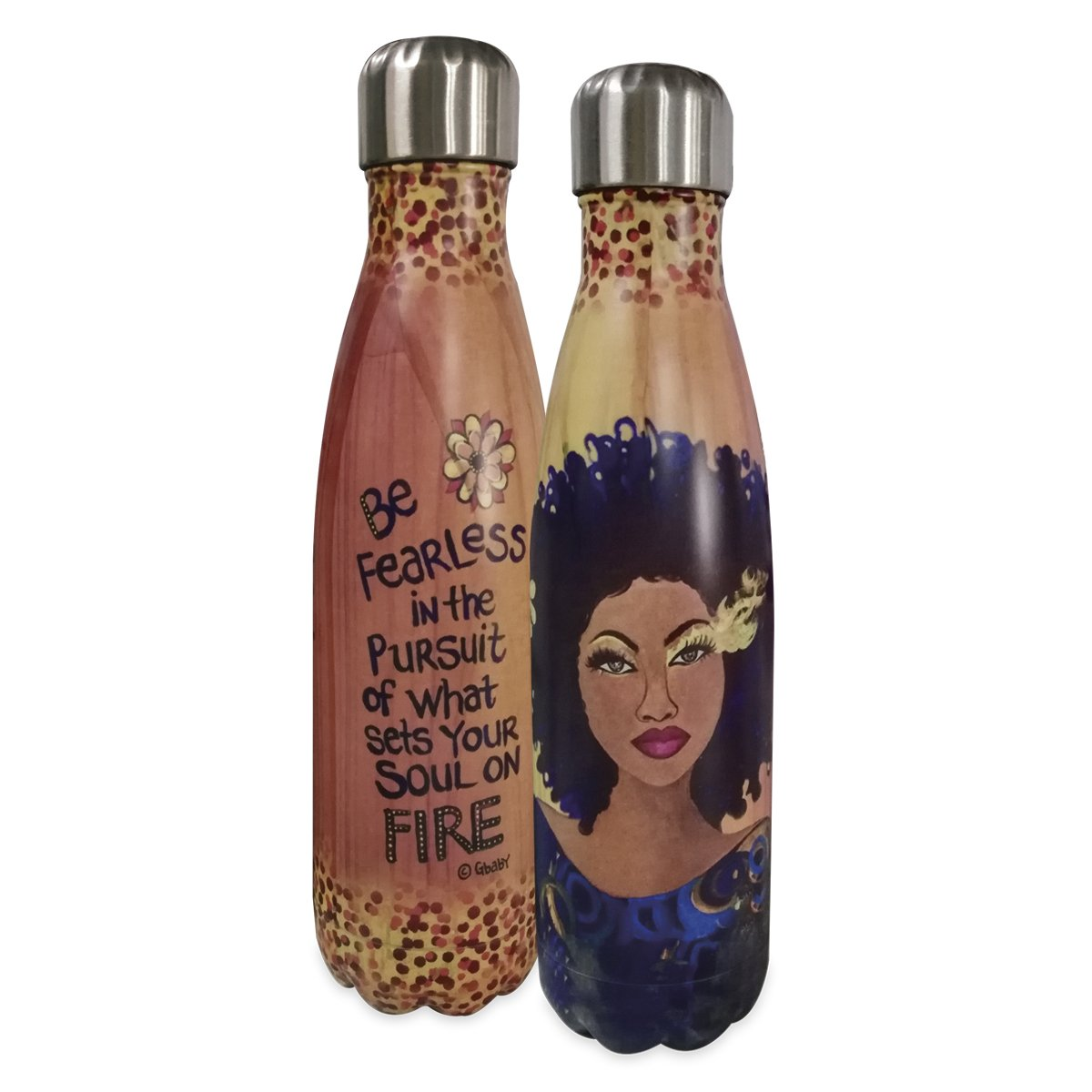 "Soul on Fire: African American Stainless Steel Bottle by Sylvia ""Gbaby"" Cohen"