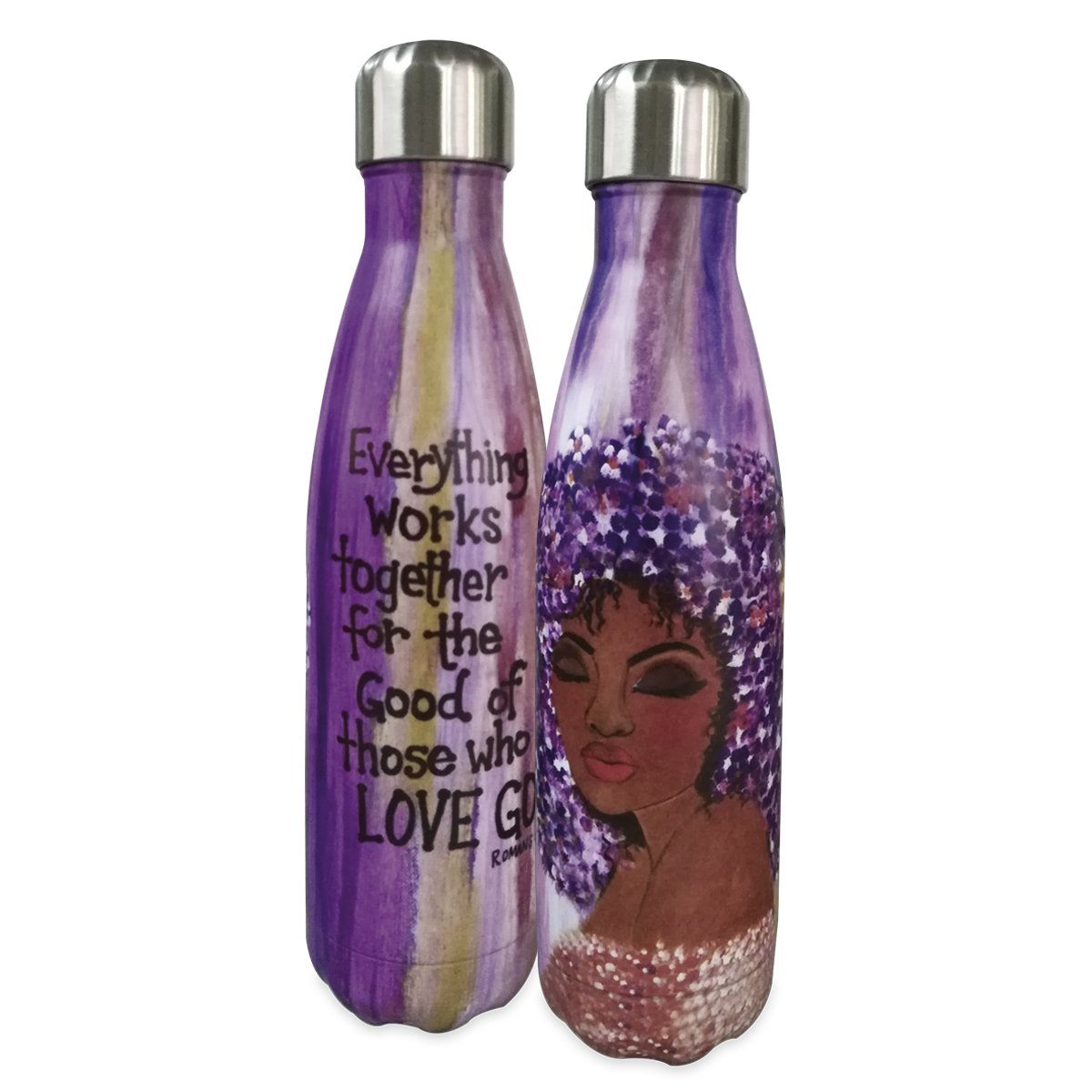 Love GOD: African American Stainless Steel Bottle by GBaby