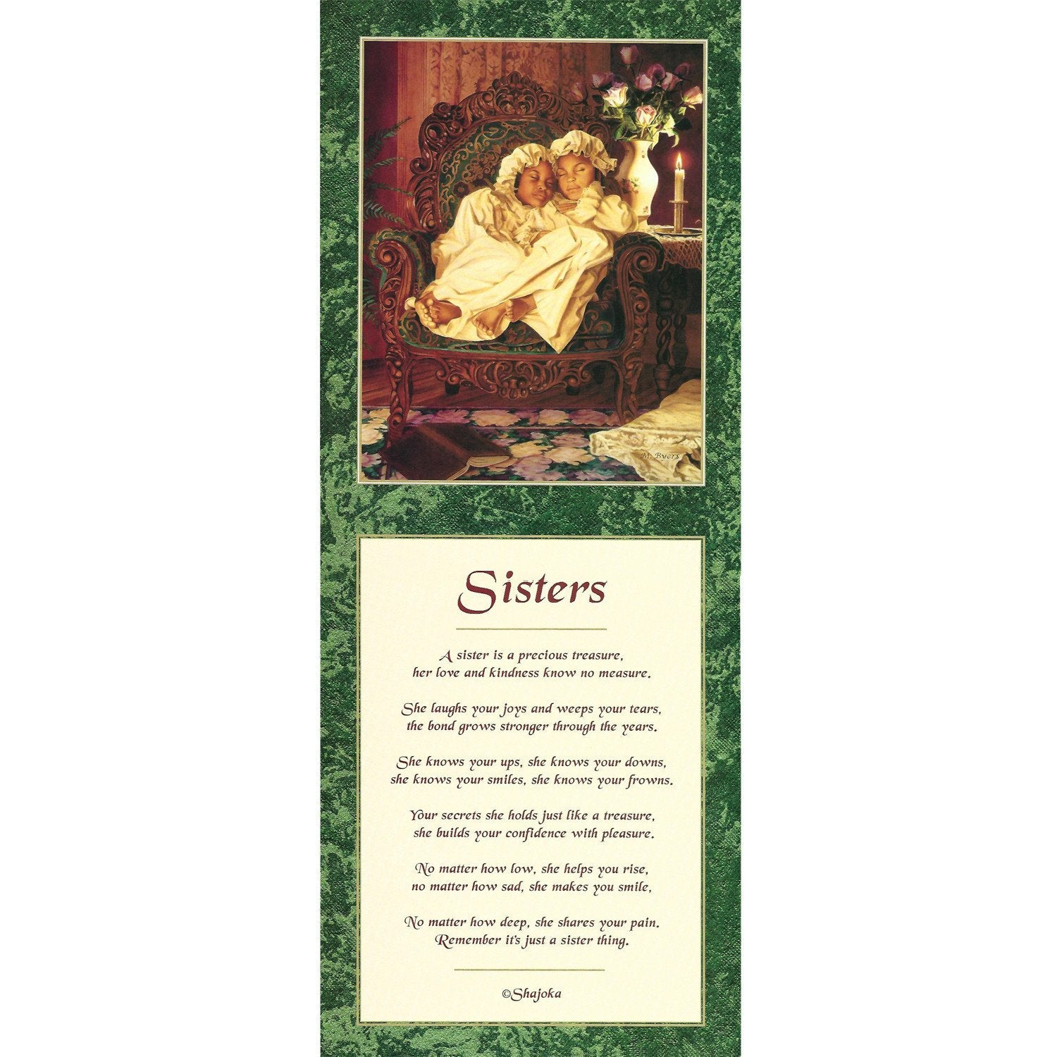 Sisters by Melinda Byers and Shahida (Literary Art Print)