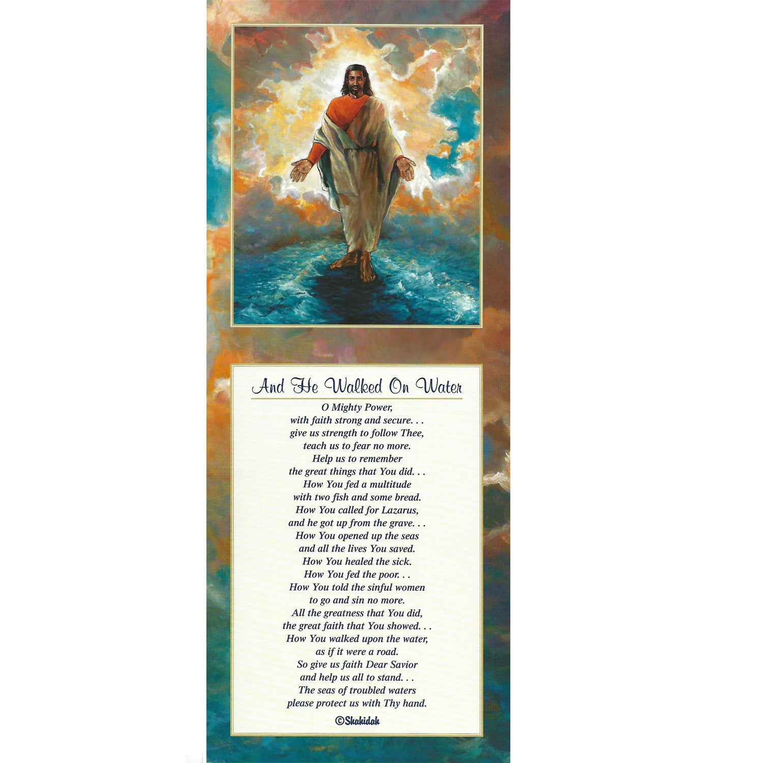 And He Walked on Water by Katherine Roundtree and Shahidah (Art Print)