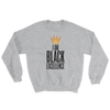 I Am Black Excellence Men's Athletic Sweatshirt by RBG Forever (Grey)