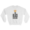 I Am Black Excellence Men's Athletic Sweatshirt by RBG Forever (White)
