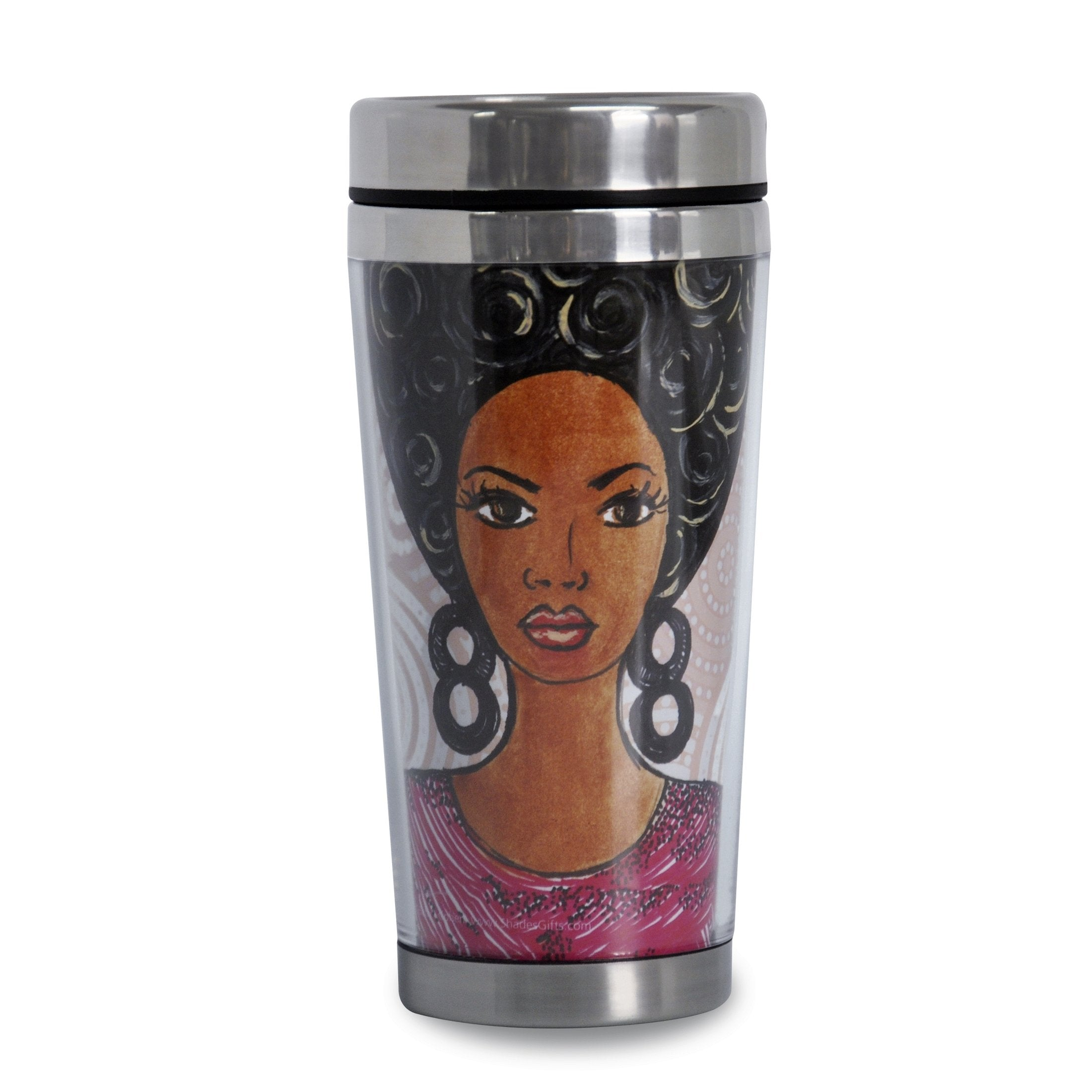 Change Your Thoughts Change Your Life: African American Travel Mug by GBaby (Front)