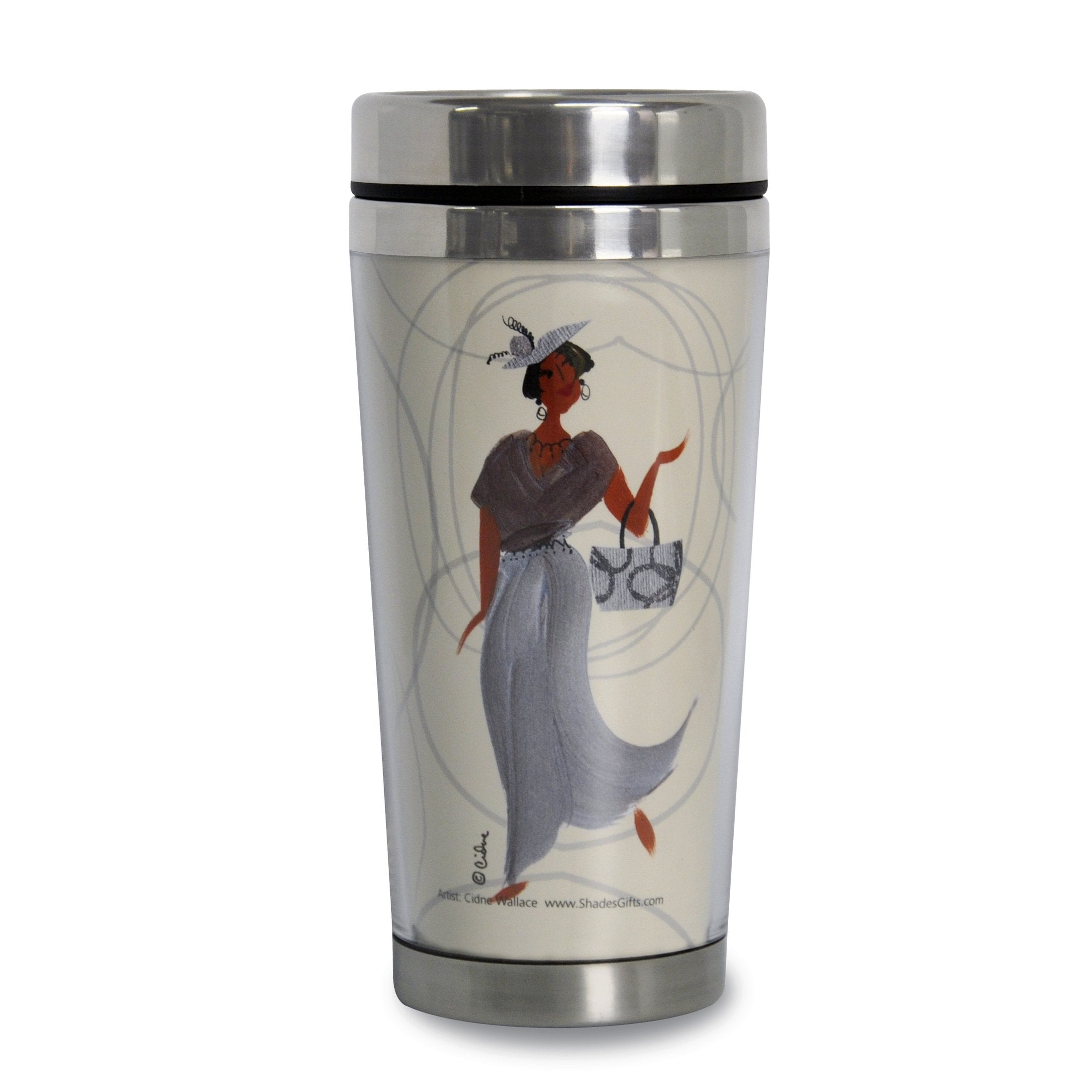 Gorgeous Granny: African American Travel Mug by Cidne Wallace (Front)