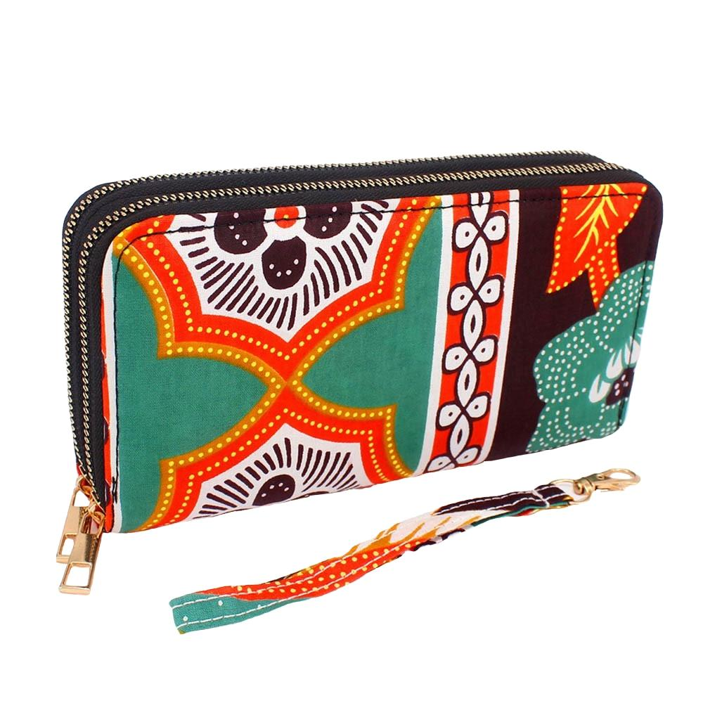 Double Zippered African Wax Print Wallet/Wristlet by Boutique Africa