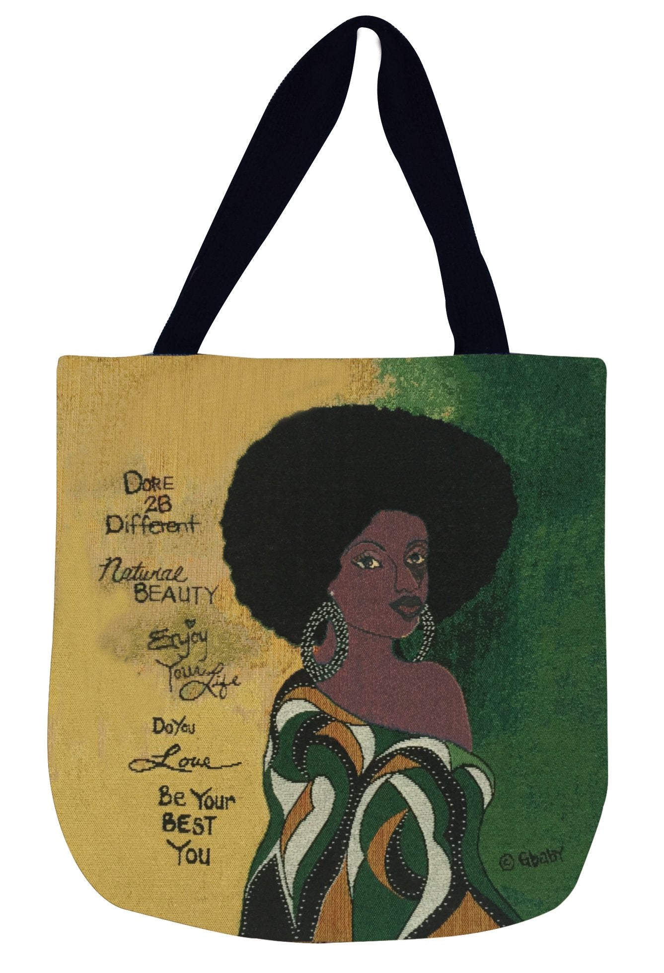Dare 2 Be Different: African American Woven Tapestry Tote Bag by GBaby