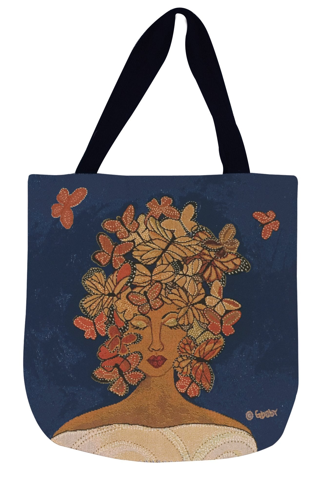 Release, Relax, Renew: African American Woven Tapestry Tote Bag by GBaby