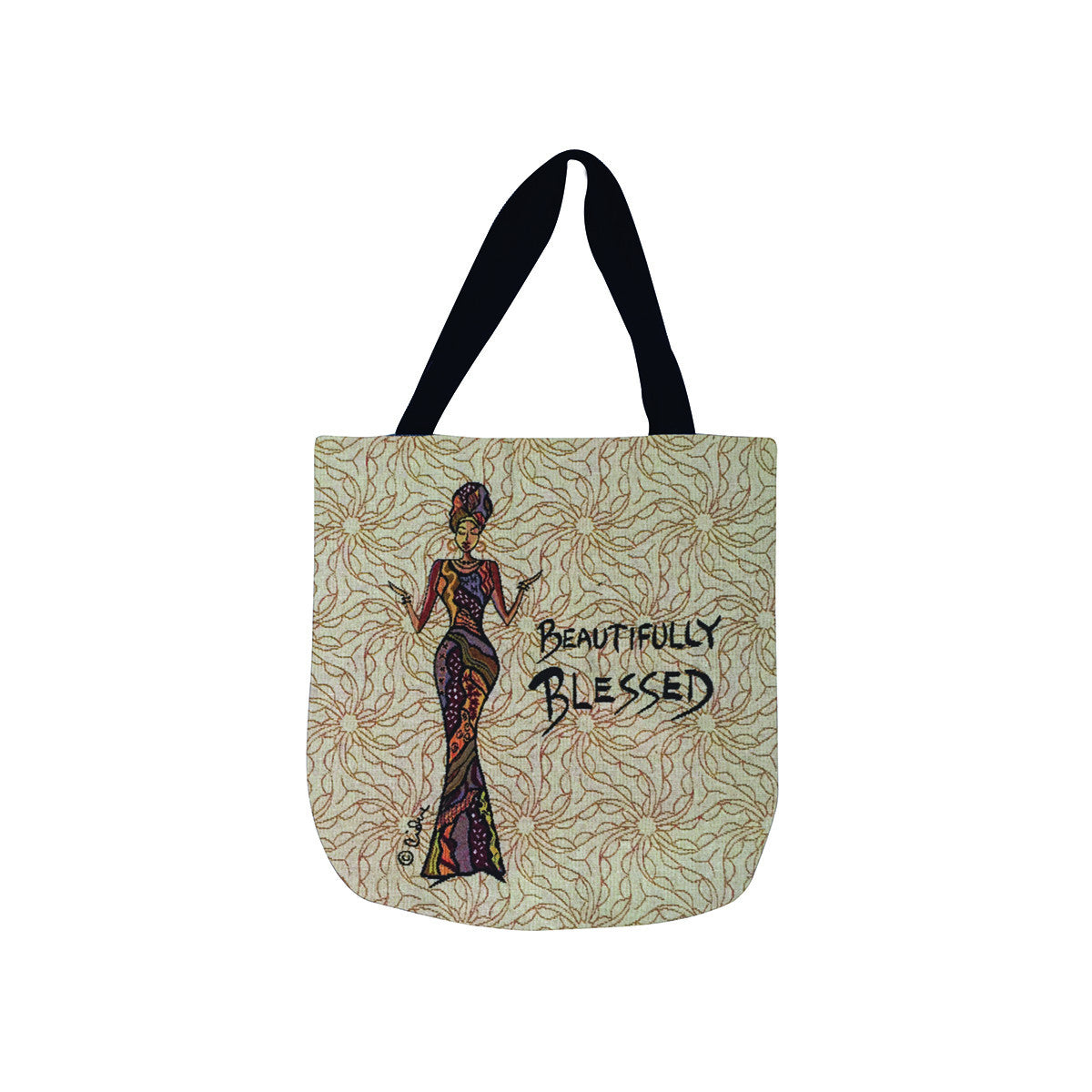 Beautifully Blessed: Cidne Wallace Tote Bag by Shades of Color