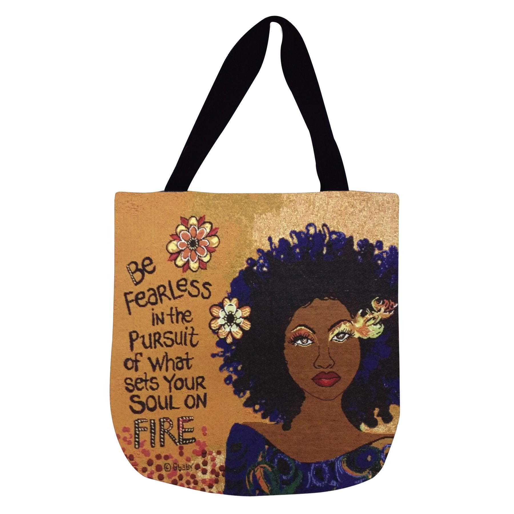 "Soul on Fire: African American Tote Bag by Sylvia ""GBaby"" Cohen"