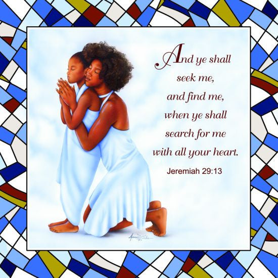 Jeremiah 29:13 Decorative Plate by African American Expressions