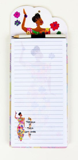 Go Through It, Then Get Over It Magnetic Notepad