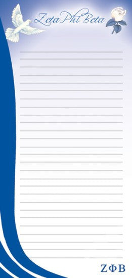 Zeta Phi Beta Magnetic Notepad
